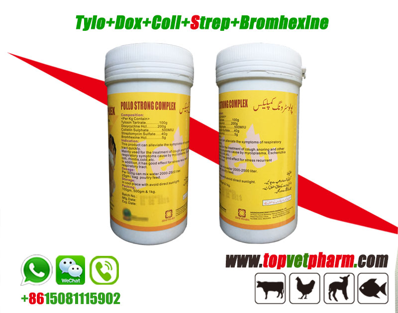 Tylosin Doxycycline Colistin Neomycin Bromhexine Powder