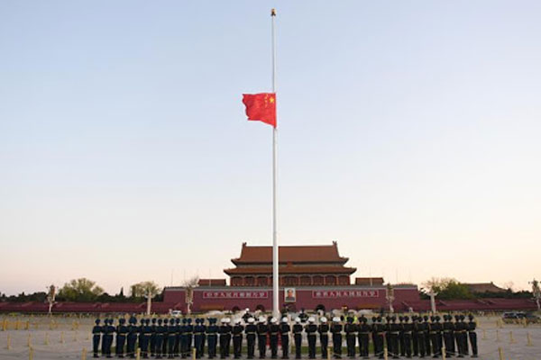 China Nation Mourns Martyrs Against Covid 19
